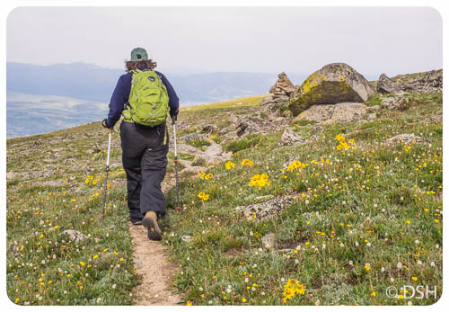 Anne Hiking Rollins Pass