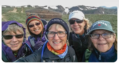 Group selfie at trailhead